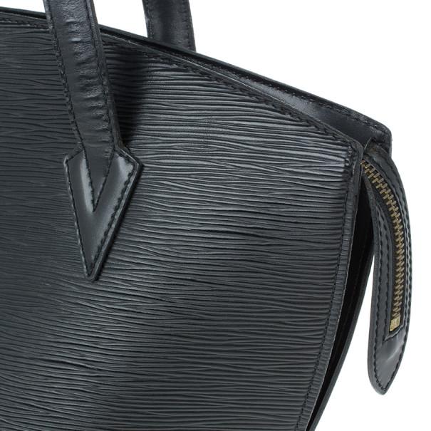 Louis Vuitton Black Epi Saint Jacques PM Bag