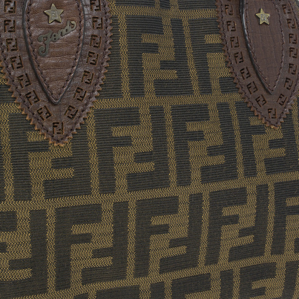 Fendi Monogram Zucca Canvas Du Jour Bag