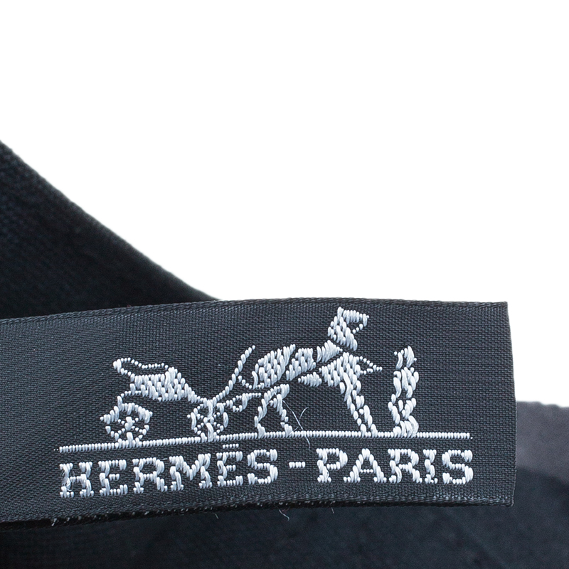 Hermes Black Canvas Fourre-Tout Shopping Bag Tote