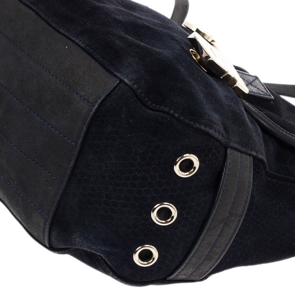 Mulberry Blue Suede Leather Tillie Tote