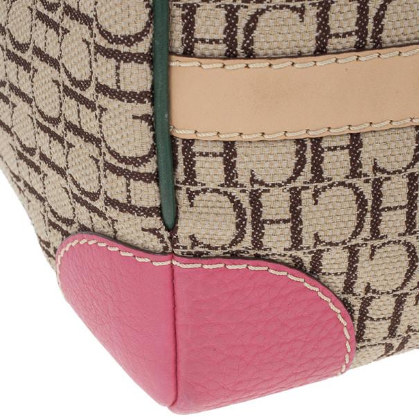 Carolina Herrera Multicolored Canvas Andy Boston Bag