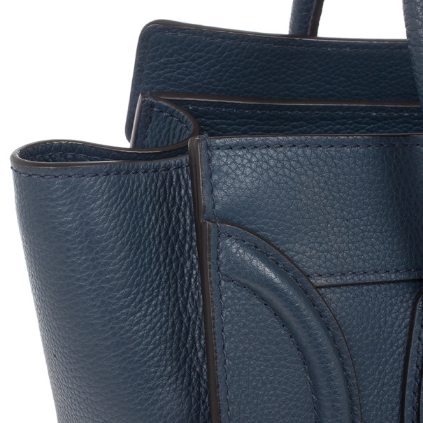 Celine Blue Micro Luggage Tote