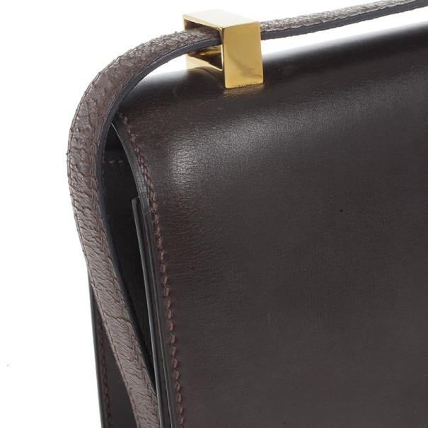 Hermes Brown Constance bag
