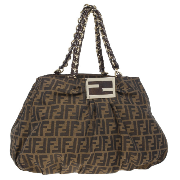 Fendi Monogram Mia Hobo