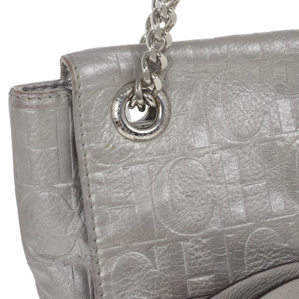 Carolina Herrera Silver Audrey Shoulder bag