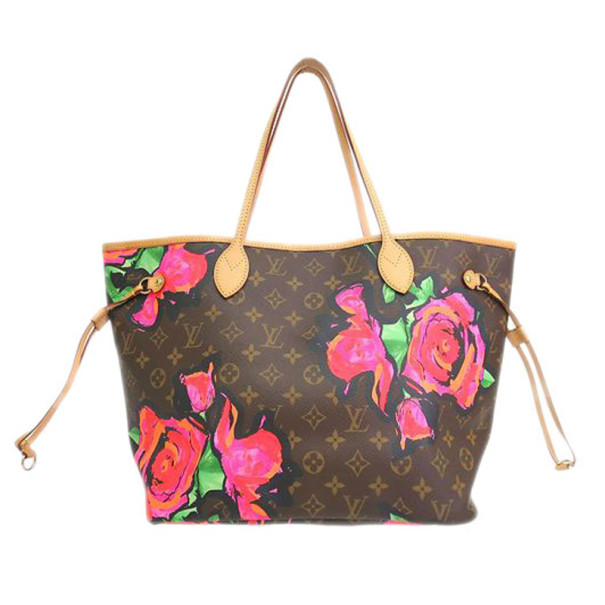 Louis Vuitton Brown Canvas Monogram Rose Neverfull Tote MM