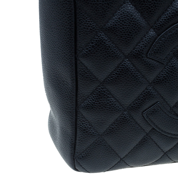 Chanel Black Caviar Petite Shopping Tote Bag
