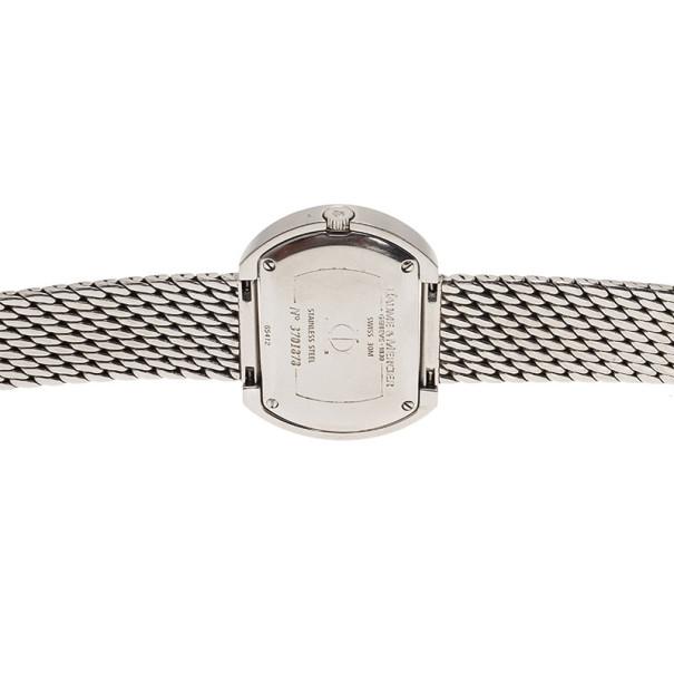 Baume & Mercier Silver Stainless Steel Hampton Square Women's Wristwatch 33MM