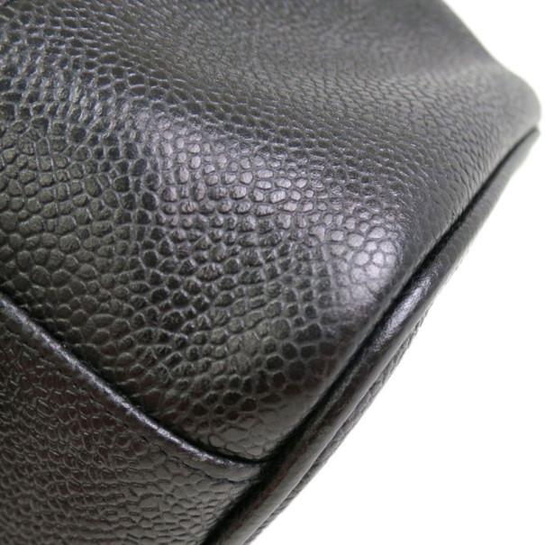 Chanel Black Caviar Vanity East West Bag