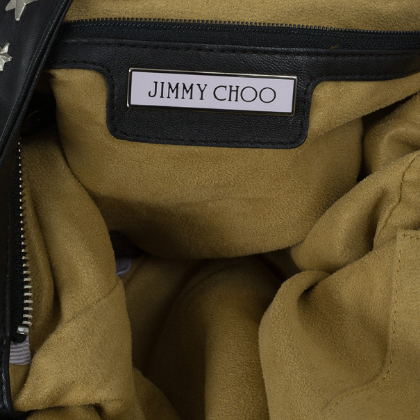 Jimmy Choo Black Star Studded Shoulder Bag