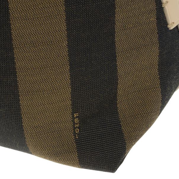 Fendi Brown Striped Tote