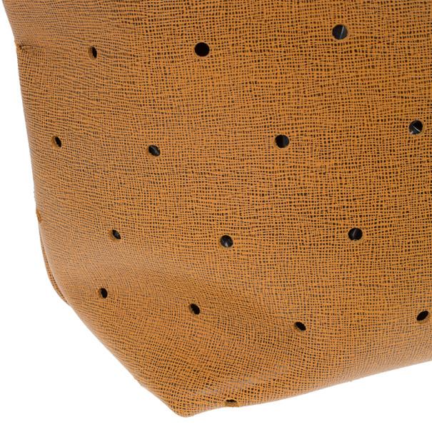 Fendi Orange Perforated tote