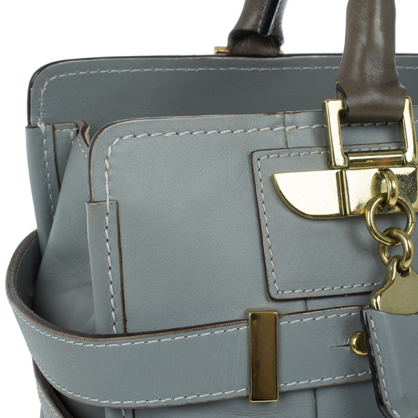 Chloe Grey Leather Tote