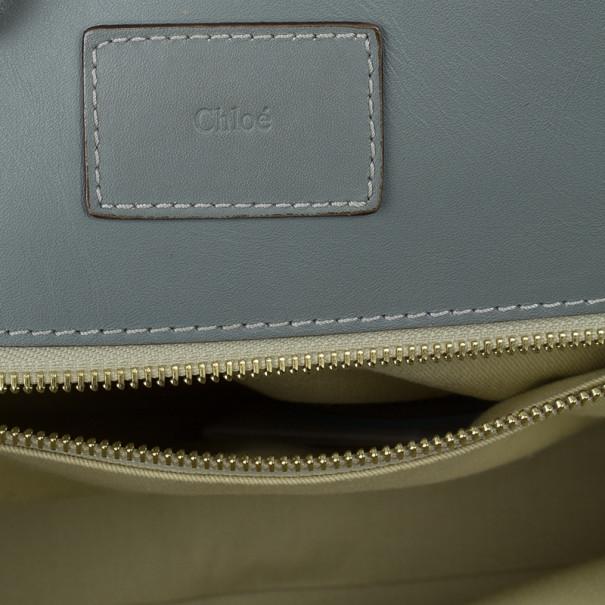 Chloe Grey Leather Tote