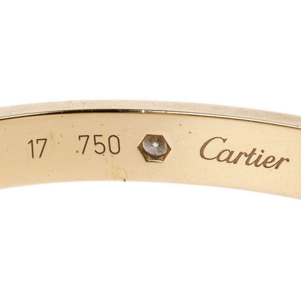 Cartier Love 4 Diamonds Rose Gold Bracelet 17CM