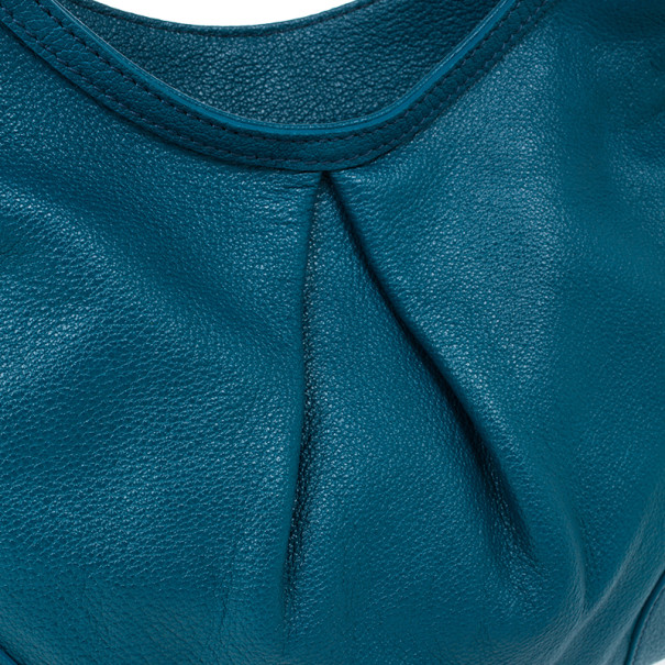 Burberry Blue Leather Hobo