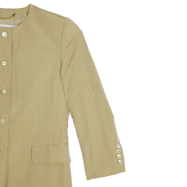 Escada by Margaretha Ley Collarless Coat M
