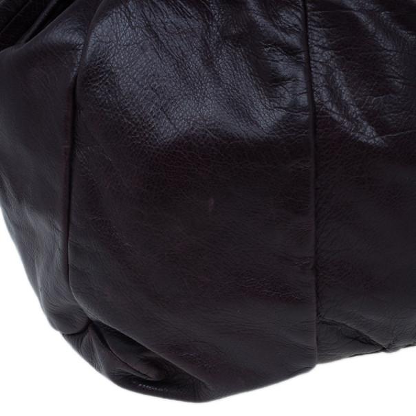 Gucci Purple Leather Large Hysteria Tote