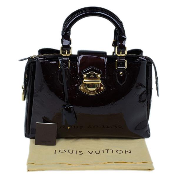 Louis Vuitton Amarante Monogram Vernis Melrose Avenue Tote