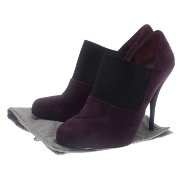 Miu Miu Purple Suede Ankle Booties Size 38