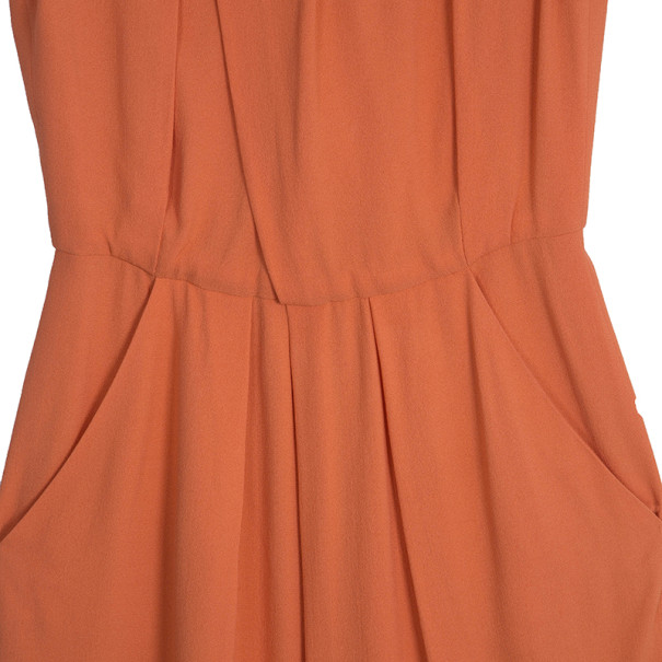 Oscar de la Renta Orange Silk Dress S