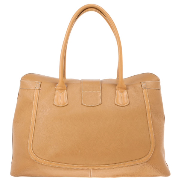Tod's Brown Leather XL Buckled Tote