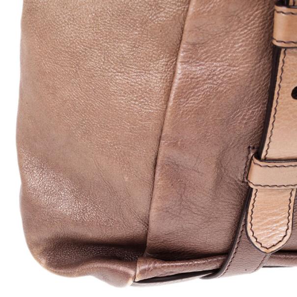 Prada Ombre Leather Shopper Tote