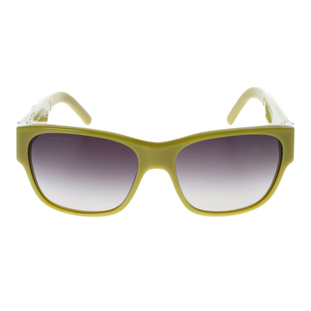 Burberry Lime Green Round Sunglasses
