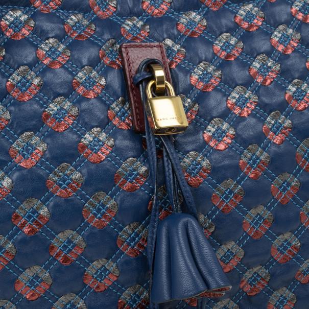 Marc Jacobs Blue Leather Memphis Tote