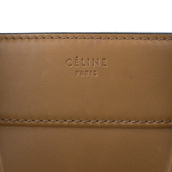 Celine Brown Mini Luggage Tote