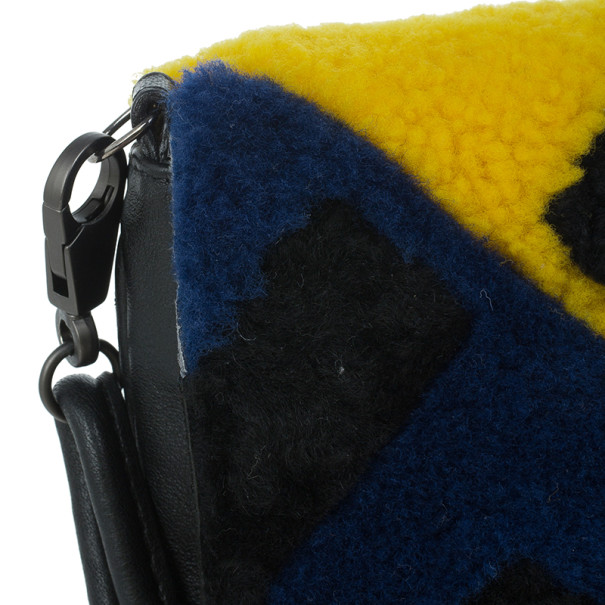 Fendi Shearling Love Letter Flap Bag