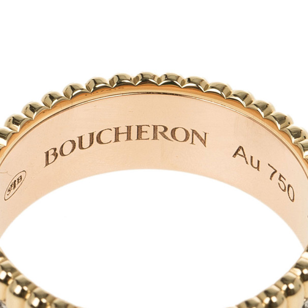 Boucheron Quatre Classic Small Ring with Diamonds Size 52