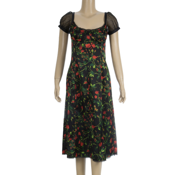 Dolce and Gabbana Bustier Floral Dress M