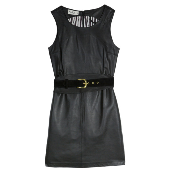 ALICE by Temperley 'Mara' Leather Dress S