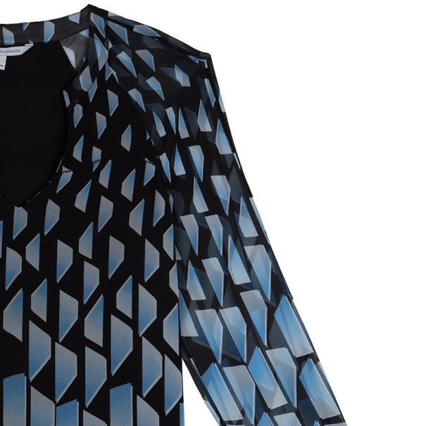 Diane von Furstenberg Maiko Geometric Print Top L