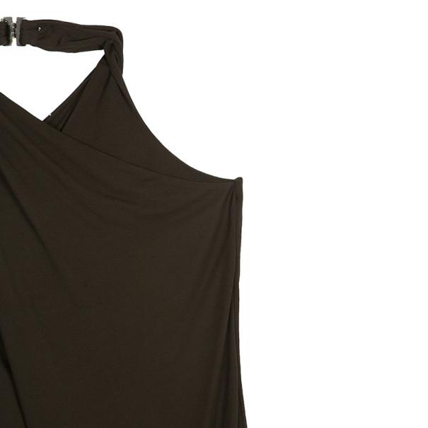 Gucci Brown Draped Halter Top L