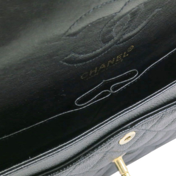Chanel Black Caviar Small Double Flap Classic Shoulder bag