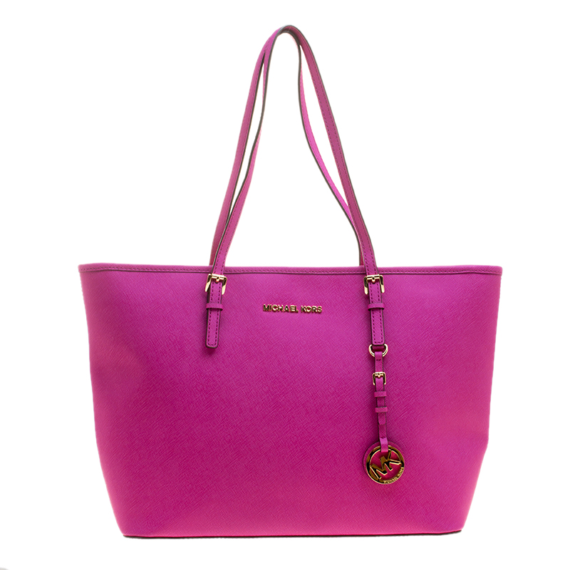 4dc48dbf17a3 inexpensive michael kors travel tote hot pink 4d1df 70232