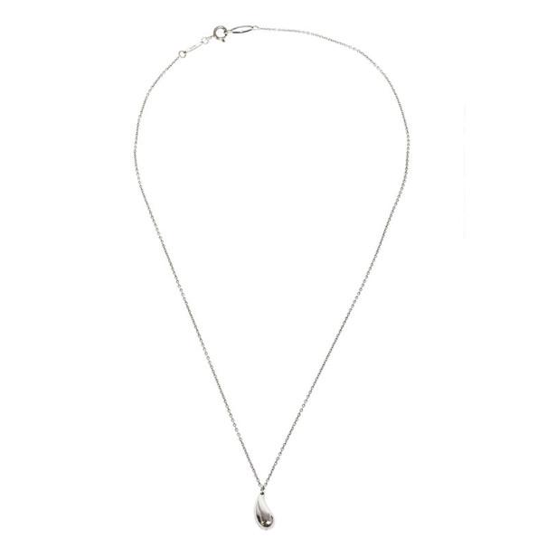 Tiffany & Co. Silver Elsa Peretti Teardrop Pendant Necklace