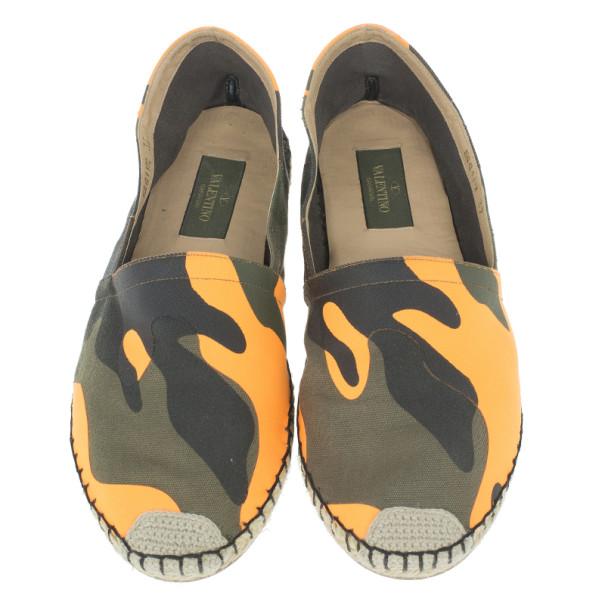 Valentino Camouflage Canvas Espadrilles Size 37