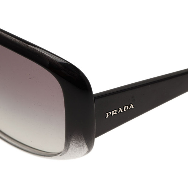 Prada Black SPR25N Rectangle Sunglasses