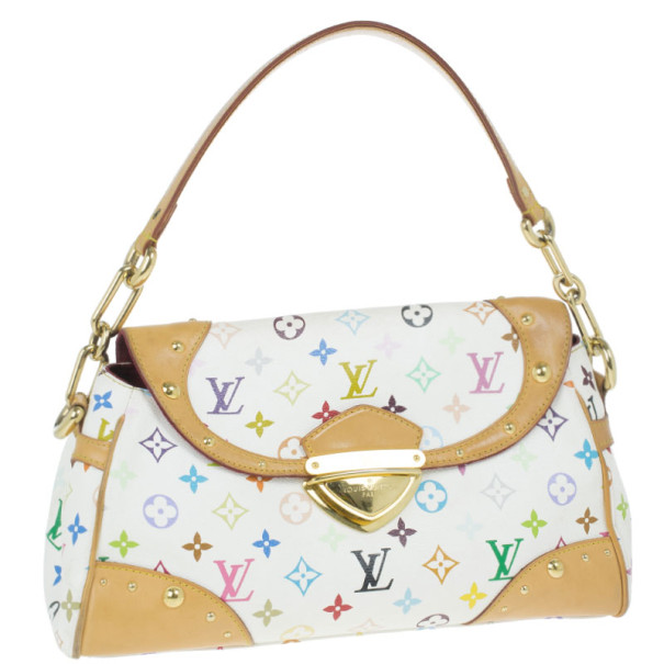 Louis Vuitton White Mulitcolore Monogram Beverly MM