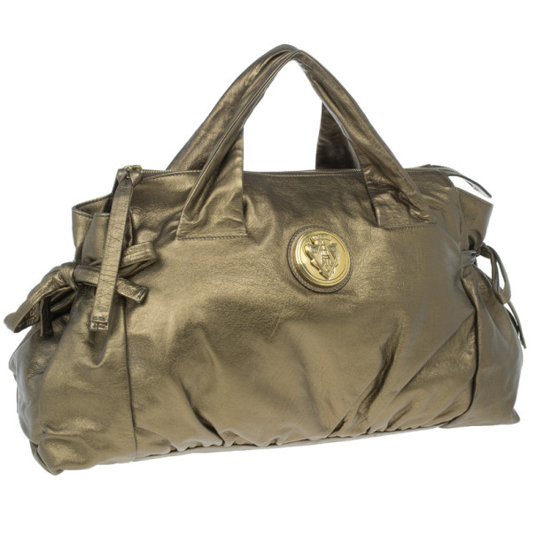 Gucci Gold Leather Large Hysteria Tote