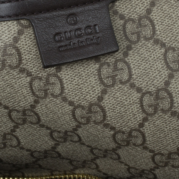 Gucci Monogram Guccissima Leather Large Boston Bag