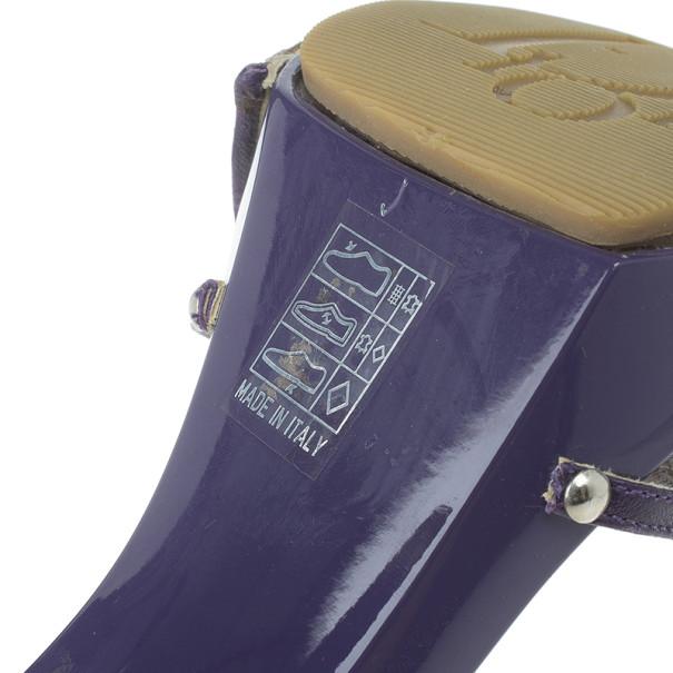 Dior Purple Monogram Slides Size 40