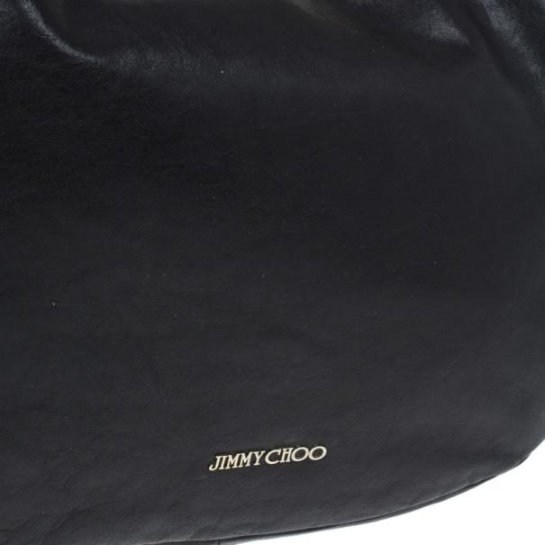 Jimmy Choo Black Leather Sky Hobo