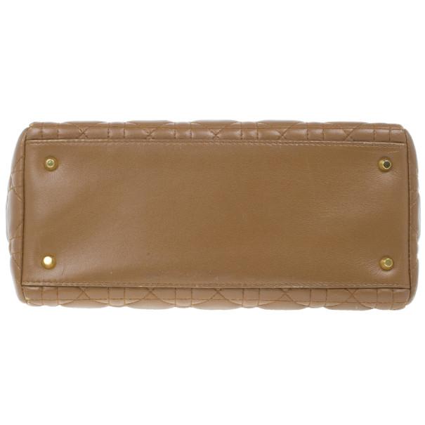 Dior Brown Leather Medium Lady Dior