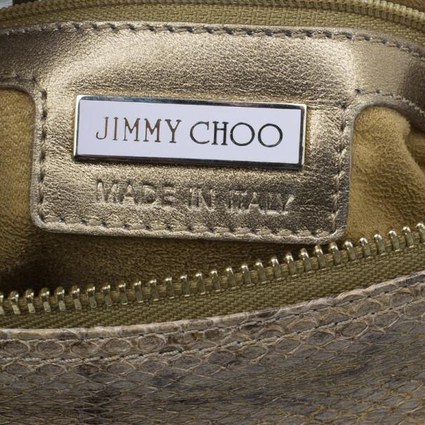 Jimmy Choo Snake Embossed Clutch