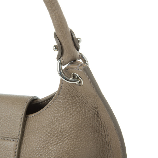 Salvatore Ferragamo Taupe Leather Fanisa Hobo