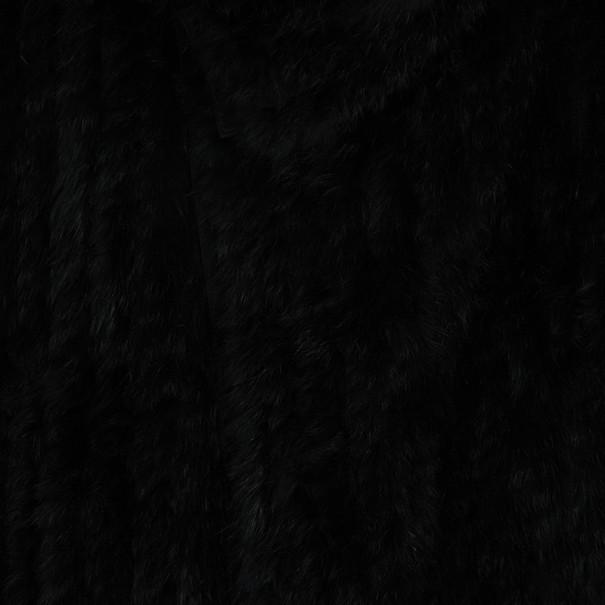 Marc by Marc Jacobs Black Rabbit Fur Jacket S